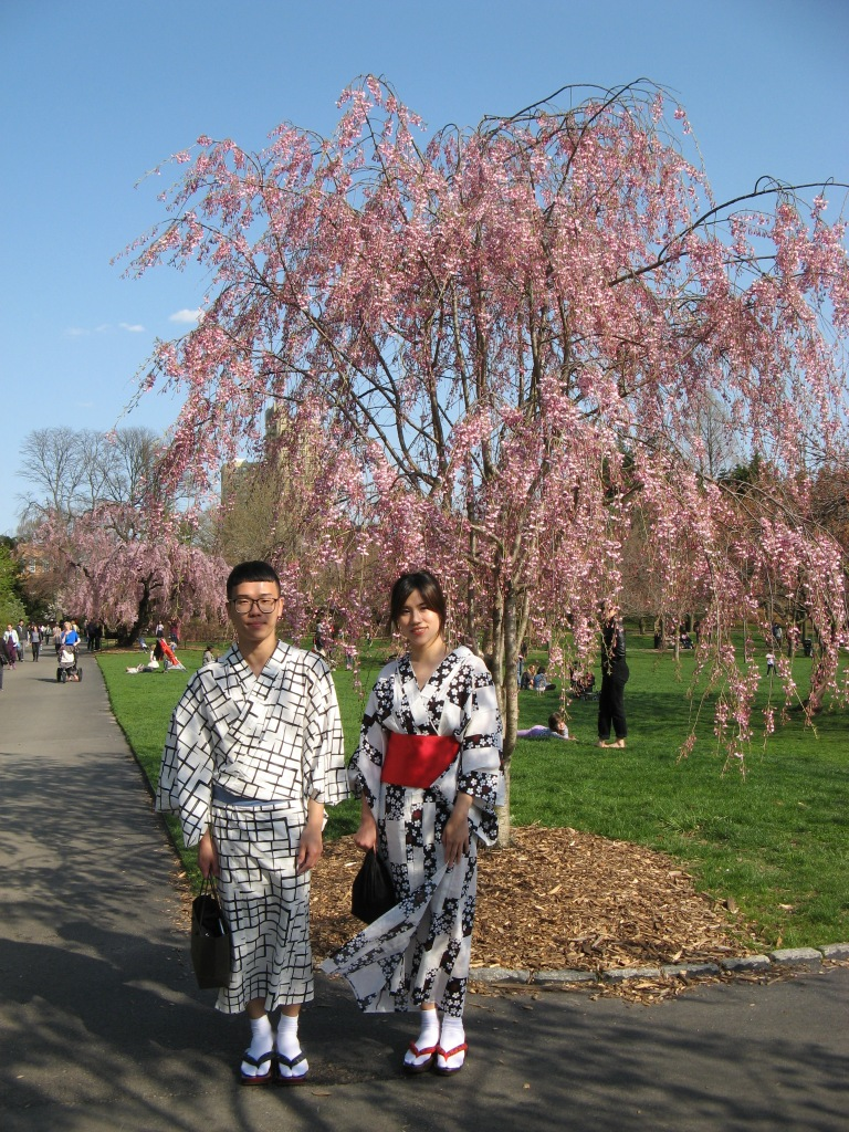 sweet couple in Japanese dress